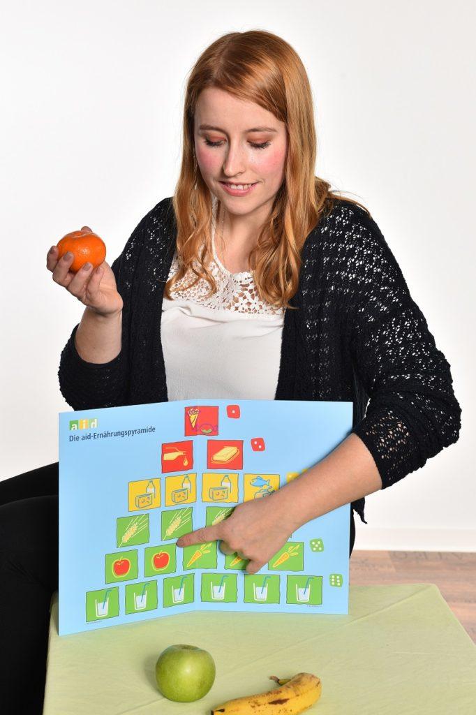 Ernährungsberaterin Sarah Rittierott erklärt die Ernährungspyramide